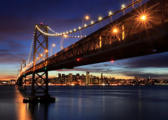 Goodbye 2011 (Rob Kroenert) Tags: bay bridge san francisco california sunset 2011 new years eve nye sanfrancisco baybridge newyearseve long exposure ca skyline city yerba buena island treasure treasureisland yerbabuenaisland