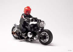Custom Lego Red Skull on Bike (_Tiler) Tags: bike print design lego cab motorcycle minifig custom marvel captainamerica marvelcomics christo minifigure redskull padprinting thefirstavenger captainamericathefirstavenger