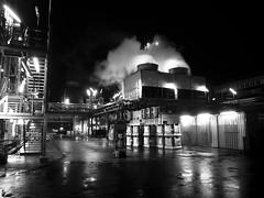 Steam (gepixelt) Tags: blackandwhite industry monochrome steam industrie chemie dampf schwarzweis s95 canons95