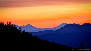 Sunrise in the mountains