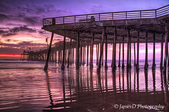 Pismo Pier Winter Sunset (JamesDPhotographer) Tags: ocean california sunset clouds pier pilings centralcoast pismo pismobeach hdr reflectionoflight jamesdphotography jamesodonnellphotographcentralcoastcalifornia albazap