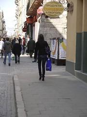 Walking in Lviv (dudu196628) Tags: street girl highheels butt lviv ukraine jeans