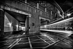 213|365 (PeterChinnock) Tags: light white black lines station 30 night train silver project manchester photography long exposure day angle wide tram piccadilly tunnel trail pro 365 213 seconds interchange efex peterchinnock