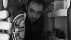 #Project365 - Day 15 - It's time for Beer (JF Bonnement) Tags: portrait blackandwhite selfportrait beer fuji noiretblanc 365 x10 project365 fujix10