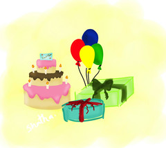 Congratulations success (ShathaAlmotlaq |  ) Tags: party cake happy baloon gift      succicful