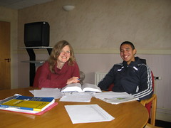 Footballer Diego Arismendi improves his English with CLT tutor Sarah