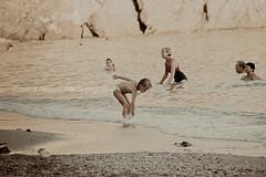 Sand #7 (La T / Tiziana Nanni) Tags: life travel people sand mare child lifestyle cinqueterre monterosso viaggio spiaggia reallife sabbia