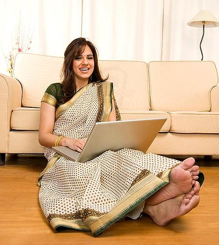 Pretty feet indian women are