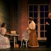 Melissa Larsen as Cecily, Jean Mar Brown as Miss Prism and Robert Bates as Dr. Chasuble; photo by Lauren Duffy