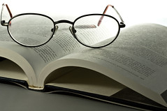 book and glasses (loco's photos) Tags: white glasses book pentax background kr eyeglasses lighttent offcameraflash strobist pentaxkr panagor9028