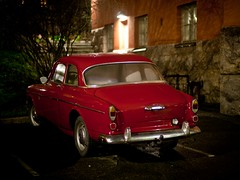 328th photo (Matt) Tags: red car volvo parkinglot transport oldcar volvoamazon volvo121 canoneos5dmkii