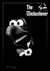 The Chickenlover (3rd-Rate Photography) Tags: blackandwhite bw monochrome canon movie poster 50mm florida muppet gonzo gonzothegreat jimhenson thegodfather toyphotography jackosnville earlware