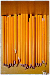 Pencils (ViTaRu) Tags: colors yellow pen pencils drawing olympus symmetry panasonic pancake 14mm epl1
