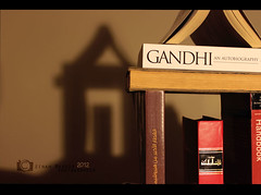 (zinah nasser) Tags: shadow house books gandhi zainab       zinah
