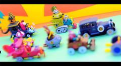Wacky Racers (Face Ache) Tags: toy hanna cartoon collectables racers races mutley wacky barbera konami dastardly