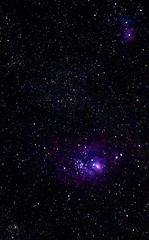 Lagoon and Triffid 2 Cropped (ChristheFuzzy) Tags: star space lagoon gas telescope nebula dust meade triffid Astrometrydotnet:status=solved Astrometrydotnet:version=14400 Astrometrydotnet:id=alpha20120165644237