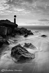 Hengistbury Head, B&W edit (Andrewf11) Tags: bw rock coast wave dorset groyne andrewstevens hengistburyhead