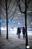 Finally some snow in TO (Ryan Pimiskern) Tags: street winter urban snow toronto ontario canada night outdoors lowlight snowstorm snowfall northyork yorkuniversity highiso yorku ef135f2l keelecampus canoneos5dmkii