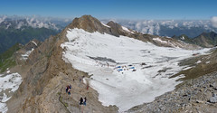 Panoramic view of Kitzsteinhorn in Austria (Bn) Tags: summer vacation snow ski mountains alps salzburg ice sports landscape geotagged austria climb high topf50 rocks skiing hiking flag days glacier adventure alpine valley meter 365 peaks tours incredible viewpoint hoiday impressive austrian endless pistes highest slopes kaprun everlasting kitzsteinhorn tauern hohen 50faves 3203 holidaysvacanzeurlaub geo:lon=12682981 geo:lat=47190259