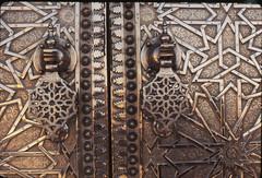 Metal door in Fez, Morocco 1974 (Monceau) Tags: door metal design morocco fez intricate billgreen