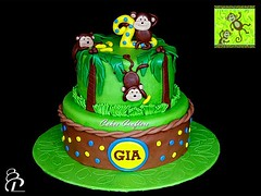 Jungle Monkey Cake (Cakes Crafters) Tags: monkeycake