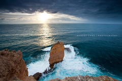 Sheringa, South Australia (Explored) (Robert Lang Photography) Tags: ocean travel sea cliff color colour water vertical stone danger spectacular coast crazy rocks awesome australia nopeople cliffs limestone destination coastline awe excitement southaustralia inspiring clifftop robertlang shear eyrepeninsula sheringa