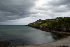 Howth Beach (albinobobman) Tags: ocean ireland dublin storm green beach water clouds day