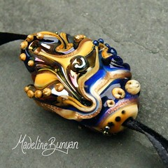 "Cobalt Blue, Sand, 'Midnight Shores' Organic Lampwork Focal Bead • <a style=""font-size:0.8em;"" href=""https://www.flickr.com/photos/37516896@N05/6842268597/"" target=""_blank"">View on Flickr</a>"