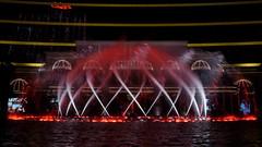 The Beauty of the Water- Nest, Wynn Macau (shinodayiukai) Tags: light red lake water fountain night colorful nest casino macau wynn macao