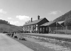 Cymmer Afan Station Building (1) (Fragglehound) Tags: history monochrome station wales architecture railway cymmer twitter