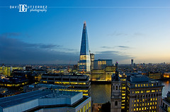 London Shard View (david gutierrez [ www.davidgutierrez.co.uk ]) Tags: city uk travel urban building london tower art architecture skyscraper photography lights dusk aerialview tall londoncity theshard davidgutierrez pentaxk5