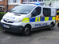 4174 - BTP - LX62 CFP - 240 (Call the Cops 999) Tags: uk 2 england holiday museum day open britain united great transport may cell police bank kingdom vehicles 101 gb vehicle service british van monday emergency 112 patrol services vauxhall 999 brooklands btp 2016 cfp vivaro lx62