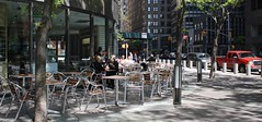 Cafe, Downtown (ktmqi) Tags: city newyorkcity people urban coffee relax cafe downtown eating sidewalk wallstreet