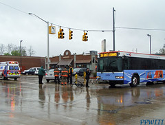 RAPID Bus Accident (PPWIII) Tags: bus college bike bicycle fire accident michigan rack grandrapids rapid department itp grata grfd