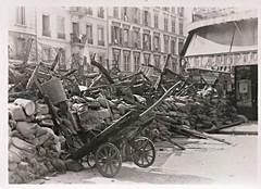 Paris, France, WWII, Liberation, Barricade, Montparnasse (photolibrarian) Tags: wwii montparnasse liberation barricade parisfrance