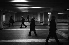 Underpass (EyeC4ndy) Tags: st petersburg russia street photography people walking metro bw kiev4 ilford hp5 plus