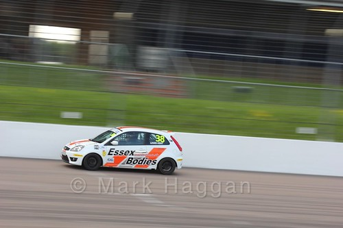 Lewis Kent in the Fiesta Junior Championship at the BRSCC Weekend at Rockingham, May 2016