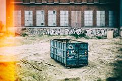 (Delay Tactics) Tags: blue urban berlin dumpster graffiti decay skip