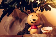 Mini Winnie (garbourne) Tags: bear wood tree smile yellow toy happy model disney honey pooh winnie 2015 ttfn