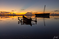 Twillight Boats (L.Charl de Klerk) Tags: ocean africa sunset sea beach landscape boat twilight flickr mozambique dhow pemba