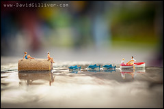 There are different ways of getting wet (Pikebubbles) Tags: uk macro london puddle actionfigure miniatures miniature miniatureart creative figurines littlepeople figurine canaryislands itsasmallworld smallworld davidgilliver davidgilliverphotography