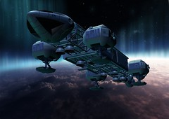 Eagle1 (Sci-fi Zone) Tags: space1999 space 1999 moonbasealpha moonbase alpha eagle transporter mark9hawk hawk