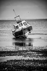 Tipping Point (yasjooni) Tags: sea seascape photography boat blackwhite nikon monotone nikond3200 d3200 55300mm