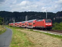 DB 146 011 (jvr440) Tags: railroad train dresden db locomotive sbahn railways trein spoorwegen rathen kurort locomotief br146