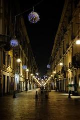 Lighten street (Amir CORE) Tags: urban italy night torino lights nikon long exposure via garibaldi d300