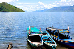 Tongging - Lake Toba Boats (Drriss) Tags: travel nature sumatra indonesia landscape rainforest southeastasia jungle tropics laketoba volcaniclake tongging flickrestrellas flickrtravelaward