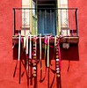 ribbons and shadows (msdonnalee) Tags: window janela fenster finestre finestra ventana ribbons shadow wall pared muro holiday mexicanholiday celebration photobydonnacleveland irondetails ironcraft iron © photosfromsanmigueldeallende fotosdesanmigueldeallende fenêtre 窓 окно