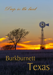Texas deep in the heart (Chandler Photography) Tags: sunset tree nature windmill photoshop poster outdoors texas burkburnett wichitacounty