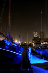 Electric Blue (JonTaylor71) Tags: blue water boats boat lowlight nikon waterfront nighttime electricblue longexpsosure d7000 nikond7000