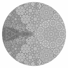 Recursive Apollonian Gasket (fdecomite) Tags: circle geometry packing math gasket povray tangent recursivity imagej tangency apollonian